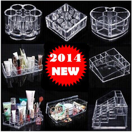 Wholesale Beautician Crystal Cosmetics Storage Box Lipstick Holder Make up Display Desktop style