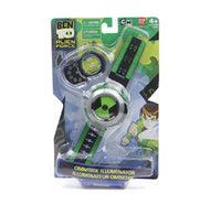 Wholesale WholesaleHot Selling Cartoon BEN Watch Toy Kids Children Projector Watch Alien Force OMNITRIX Drop Shipping