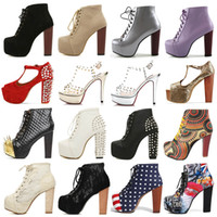 Wholesale Hotsales Jeffrey Campbell imitation Size35 colors Sexy Laides High platform High heels Ankle boots for women