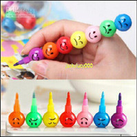 Wholesale 60set Stationery Colorful WaterColor Brush Smiley Cartoon Pens Pencil Markers Children s Toys Gifts Watercolor pen