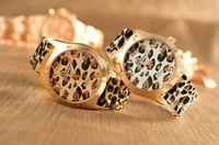 Wholesale Women s Geneva Watch Leopard gold color Silicone Wristwatches Quartz Ladies dress watch dropship digital time Sport Watch
