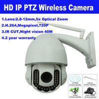 Wholesale Wireless HD H P Megapixel mm x Optical Zoom PTZ P2P Outdoor Wifi Security IR Cut IP Camera