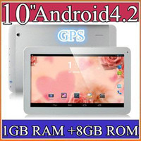 10 inch Android 4.2 8GB SH 10 10.1 Inch Quad Core 3G Phablet Android 4.2 1GB RAM 8GB MTK8382 Quad Core 1.3Ghz GPS Bluetooth Dual Sim Card Tablet Phone PB10-6
