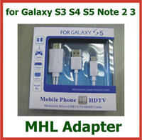Wholesale 50pcs Micro USB MHL to HDMI Cable HDTV Adapter mhl hdmi for Samsung Galaxy S5 S4 S3 Note Note Galaxy Tab Tab S Tab Pro