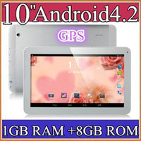 10 inch Android 4.2 8GB 10PCS 10 10.1 Inch Quad Core 3G Phablet Android 4.2 1GB RAM 8GB MTK8382 Quad Core 1.3Ghz GPS Bluetooth Dual Sim Card Tablet Phone PB10-6