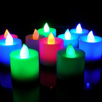Wholesale Flickering Flicker Flameless LED Tealight Tea Candle Light Battery Romantic Candles Operated Valentine s Day Birthday Party Wedding Bar