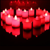 candle light led - Romantic Candles Flickering Flicker Flameless LED Tealight Tea Candle Light Battery ABS Plastic Valentine s Day Birthday Party Wedding Bar