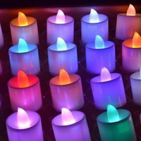 Wholesale Romantic Candles Flickering Flicker Flameless LED Tealight Tea Candle Night Lights Lighting ABS Valentine s Day Birthday Party Wedding Bar