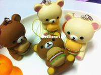 Wholesale cm Kawaii Rilakkuma Rare Squishy Bag Charm Novelty Items Squishies Mobil Phone Straps