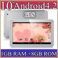 10 inch Android 4.2 8GB 40PCS 10 10.1 Inch Quad Core 3G Phablet Android 4.2 1GB RAM 8GB MTK8382 Quad Core 1.3Ghz GPS Bluetooth Dual Sim Card Tablet Phone PB10-6