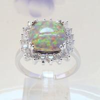 Cheap With Side Stones rainbow opal jewelry Best Mexican Women's women opal ring