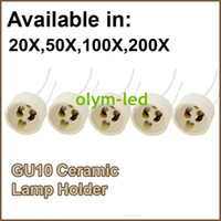 Wholesale OLYM LED GU10 lamp base with a line of energy saving halogen lamp holder ceramic cup test aging board accessories led lamps cm gu10 socket