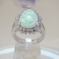 Wholesale High Quality Nice Design Australian White Opal Rings Fashion Jewelry Women s Finger Party Opal Ring Size