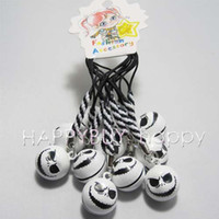 Guangdong China (Mainland) HYing Metal Wholesale-Free Shipping 200pcs Mix order Nightmare Before Christmas Jack White Bell Boy Girl Cell Phone Strap Mobile Strap Hotsale407