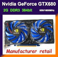 Wholesale Brand Nvidia GTX680 video card graphics card G DDR3 bit MHz MHz DX11 PCI E X16 DVI HDMI VGA year warranty