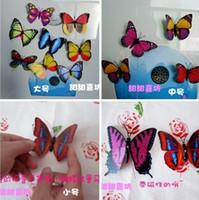 Wholesale 500pcs Simulation of butterfly fridge magnet fridge magnet refrigerator magnets