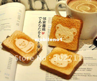 China (Mainland) lymays Simulation food phone chain Wholesale-RS010 Cute soft squishy rilakkuma bear toast squishy cell phone charm,mixed order, free shipping