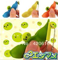 kawaii squishy - s cm Kawaii Edamame Mameshiba Soybean squishy Cell Phone Charm bag cham Keychain squishy buns wholesales