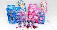 Wholesale 15pcs FROZEN Stamps set Cartoon Frozen Children s cartoon stationery stamper set