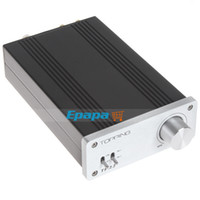 Wholesale Topping TP22 Tripath TK2050 Class T Digital Car Mini Amplifier High Power Amp Audio for Subwoofer with Headphone amp RCA Inputs