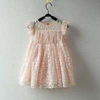 TuTu Summer A-Line Grade Girls Lace Dress 2014 Summer Baby Sleeveless Lace Skirt 3 Colors Suitable For 3-7 year-old Girl, High-Quality Clothes 5PC Lots
