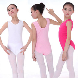 Wholesale Girls ballet clothing stage wear kids dance clothes for performing cotton vest leotard dress