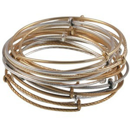 Wholesale Vintage Alex Ani adjustable Bangle Wire Bracelet Antique Silver Gold Bronze Colors