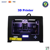 0.1-0.2mm 350W 225mm x 145mm x 150mm Free ship!! 3D Printer Creator X Dual Extruder printing machine Metal Frame Structure Works with ABS and PLA
