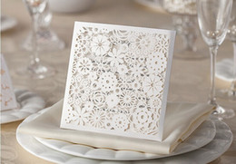 Wholesale 2014 New Top grade wedding Party laser invitation cards Printable and invitation Customizable
