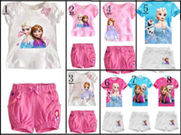 Cheap 2014 new,girls clothing,100% cotton kids clothing set,T-shirt+pant,girls summer clothing,children's clothing,,girls sets,Frozen
