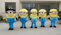 Wholesale 2014 Brand New Despicable Me Minion Cartoon Mascot Costume Adult Cartoon Character Costumes mascot costume