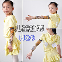 Wholesale Boy and girl s Arm Sleeves Kid s New Children Carton Tattoo Sleeves Mix