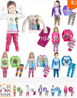 Girl Summer  6%off.new Frozen Princess children's clothing sets,cut cartoon girls pajama sets,toddler baby kids pijama sleepwear suit6sets 12pcs ZG