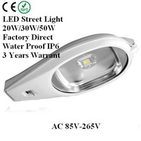 E40 85-265V IP65 LED Street light 50W AC 85V-265V High Strength Cobra Head Road Light Garden Light Outdoor Light Factory Direct 3 Years Warrant High power