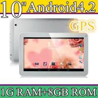 10 inch Android 4.2 8GB 10PCS 10 10.1 Inch Quad Core 3G Phablet Android 4.2 1GB RAM 8GB MTK8382 Quad Core 1.3Ghz GPS Bluetooth Dual Sim Card Tablet Phone PB10-6