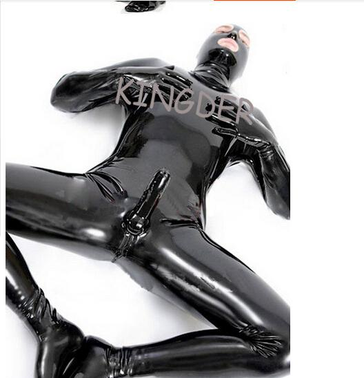 Latex Leotard Sex Toys Sexy Hero Suit for Men- Skin Tight