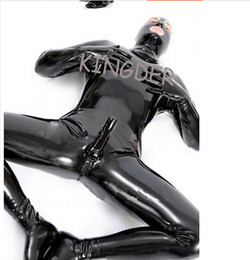 Wholesale Latex Leotard Sex toys Sexy Hero Suit for men Skin Tight S M L XL XXL Black
