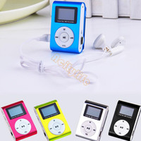 Wholesale Dropshipping New Mp3 Music Player Mini Clip MP3 Player Portable FM Radio LCD Screen For GB TF Card Colors CB024173