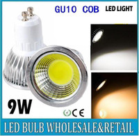 Wholesale CREE W Dimmable Led Spotlights High Power COB GU10 E27 E26 MR16 GU5 Led Bulbs Lights Cool Warm White Anlge