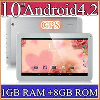 10 inch Android 4.2 8GB 20PCS 10 10.1 Inch Quad Core 3G Phablet Android 4.2 1GB RAM 8GB MTK8382 Quad Core 1.3Ghz GPS Bluetooth Dual Sim Card Tablet Phone PB10-6