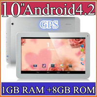 10 inch Android 4.2 8GB 50PCS 10 10.1 Inch Quad Core 3G Phablet Android 4.2 1GB RAM 8GB MTK8382 Quad Core 1.3Ghz GPS Bluetooth Dual Sim Card Tablet Phone PB10-6
