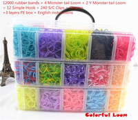 Multicolor band family - Family Loom Kit Set Loom Band Kit Kids DIY Bracelet Silicone Loom Bands layers PVC Box