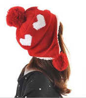 Stingy Brim Hat Red Cowboy 2012 autumn and winter female ear sphere casual knitted cashmere yarn dome twisted beret