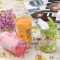 Wholesale Portable Home Car Wet Wipes Mini Cartoon Cans Tissue Paper Towel Case Tin