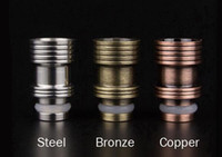 Cheap 2014 Latest Wide Bore Drip Tips E Cig Tanks Stainless Steel with Drip Tip 510 EGO Atomizer Mouthpieces for CE4 Vivi Nova EVOD E Cigarettes