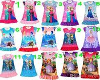 anna fashion designer - Frozen Sophia Girls Summer Dress t shirt Fashion designer Elsa amp Anna Princess Dress short sleeves Princess pajamas years