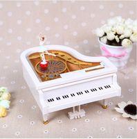 Wholesale Ballerina girls piano music box ballet rotating musical box wedding valentine s souvenir gifts home decor