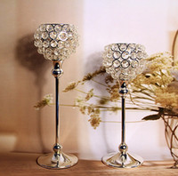 Wholesale 2014 new brand of Candle Holders Crystal Candle Holder Candlesticks Home Decoration Two pieces set Wedding Candelabra