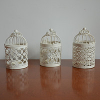 Wholesale 2014fashion iron art Bird Cage Decoration Candle Holders for Wedding decoration home Decorative Bird Cages candlestick