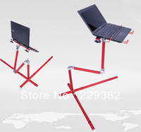 wood School Furniture Computer Desk DHL EMS Free Shipping Portable Metal folding computer desk laptop table sofa and bed and office stand laptop floor stand